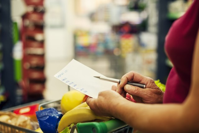 how to estimate what your grocery bill will be sapling com
