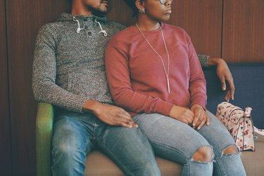 Black couple in waiting room