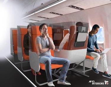 Avio Interiors Janus Seat mockup