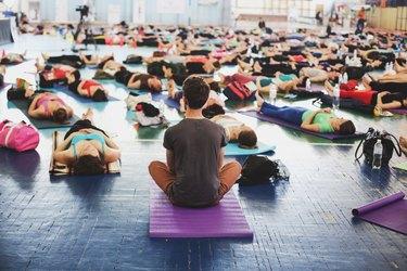 Yoga festival indoors