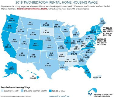 2018 2BR rental home housing way map/chart