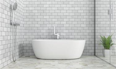 Bathroom interior bathtub