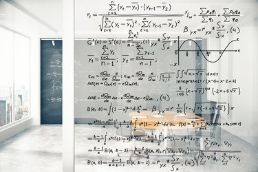 How to Calculate CARG                              Transparent wall with equations in modern conference room