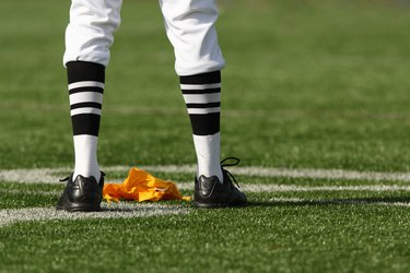 Referee Legs and Flag
