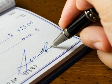 Signing a Check