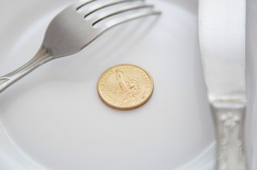 Ohio State Taxes on Food                      One dollar coin on a white plate