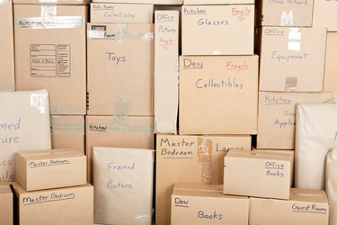 Can I Get a Personal Loan to Move?          Moving boxes
