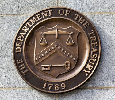 What Are Internal & External Taxes?           Present Seal Sign Symbol US Treasury Department Washington DC