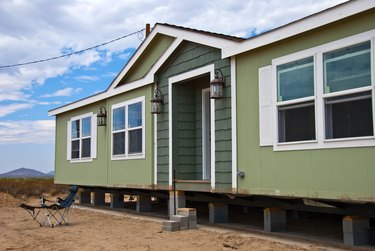 ow to Install Skirting for a Mobile Home          New Prefabricated House in Rural Area
