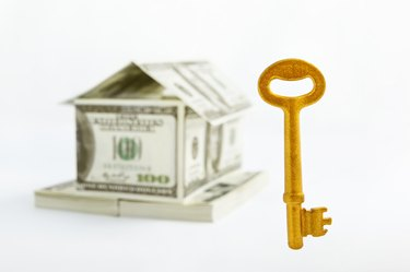 Rent Assistance Grants              House shaped dollars and golden key