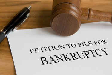 A petition to file for bankruptcy note