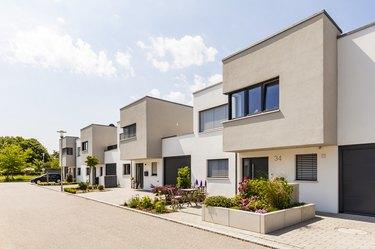 Germany, Bavaria, Neu-Ulm, modern one-family houses, efficiency houses
