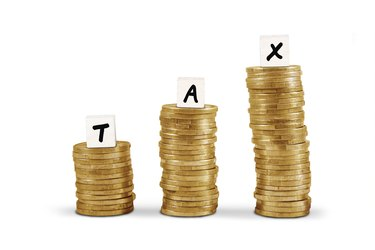 Word tax on gold coin stacks