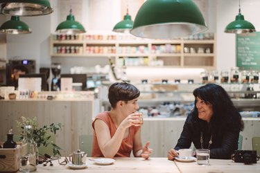 Women having a business lunch