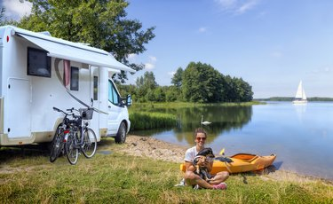 mobile home - summer recreation at the lake