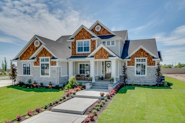 Beautiful new home with big front porch and entry
