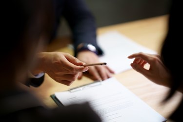 Sign contract agreement in business
