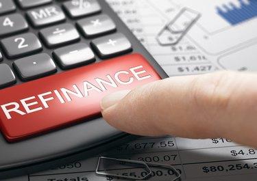 Refinancing debt, loan or mortgage.