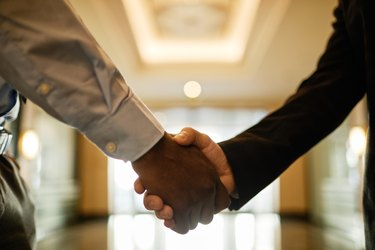 Business People Shaking Hands Close Up