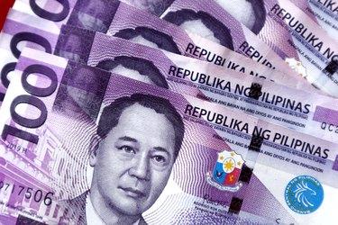 Bunch of one hundered Philippine peso bills