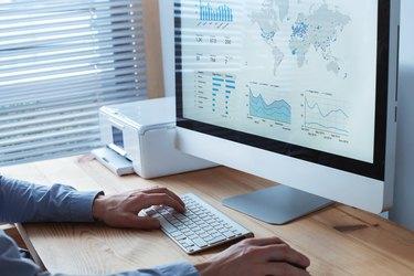 digital marketing dashboard, infographics financial charts