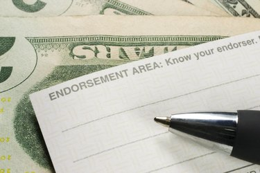 Endorsing the back of a check