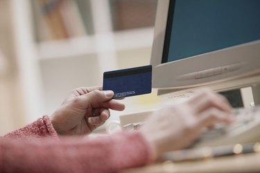 Woman ordering online