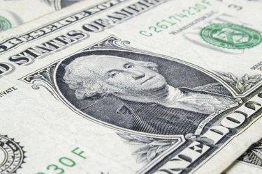 George Washington, one dollar