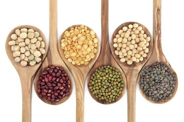 Dried beans and lentils help you eat healthy for less money.