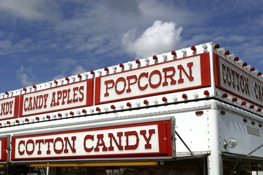Cotton Candy, Popcorn, Candy Apples