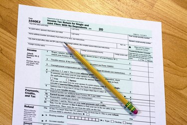 Government form for taxes