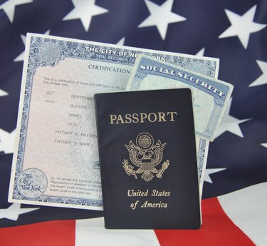 Passport Birth Certificate Social Security Card