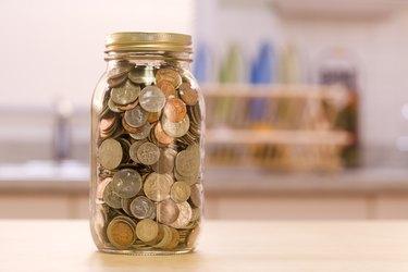 Change in a jar