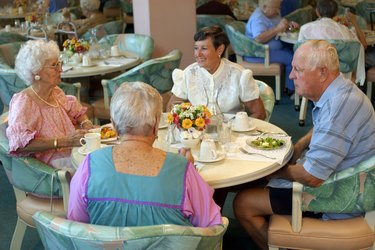 People eating in nursing home