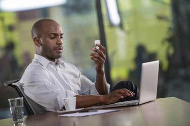 Businessman Having A Video Call