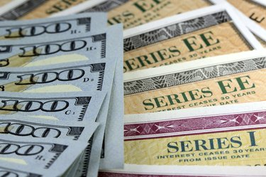 United States Savings Bonds with American Currency - Financial Security
