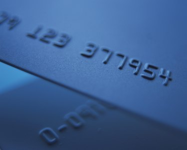 Credit cards, Close Up, High Angle View, Differential Focus, Toned Image