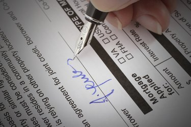 Mortgage Application Form Signature