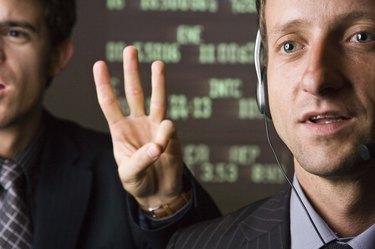Stock market businessmen