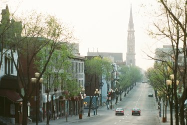 Cityscape in Montreal, Quebec, Canada