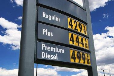 sky high gas price unleaded 4.44