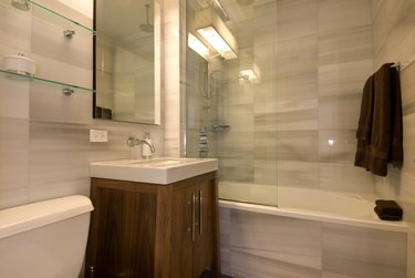 Interior of bathroom in home