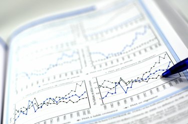 Stock chart and financial report