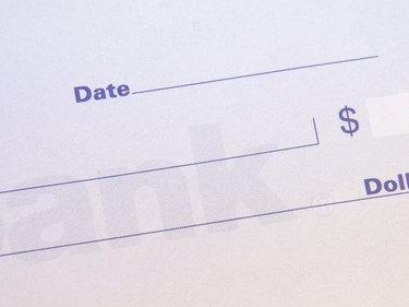 High angle view of a check