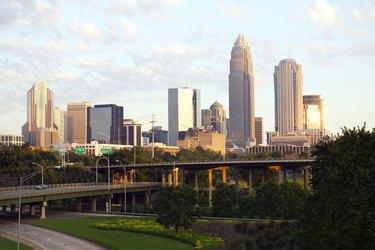 The skyline of Charlotte, North Carolina,  as of June 2003