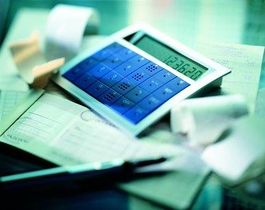 Calculator and check book