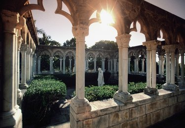 Garden in a French Cloister, Paradise Island, Bahamas