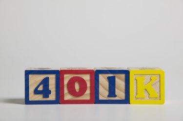 401K spelled out in building blocks