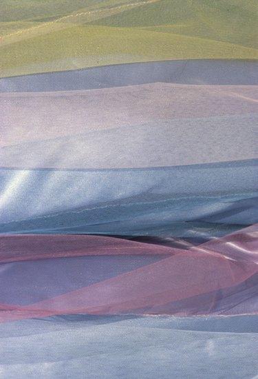 Colorful sheer fabrics