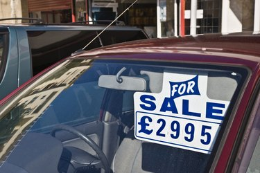 Car for sale, Sterling pounds